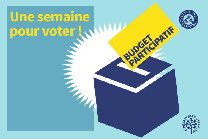 une semaine pour voter