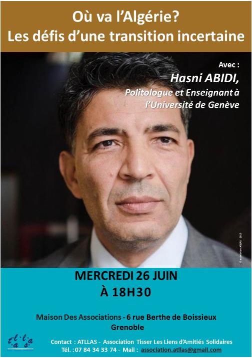 invitation conférence algérie